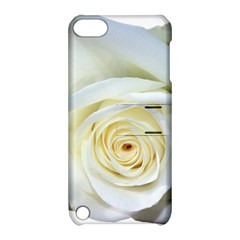 Flower White Rose Lying Apple iPod Touch 5 Hardshell Case with Stand