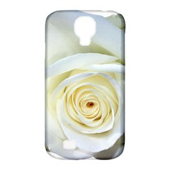 Flower White Rose Lying Samsung Galaxy S4 Classic Hardshell Case (pc+silicone)