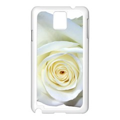 Flower White Rose Lying Samsung Galaxy Note 3 N9005 Case (White)