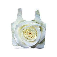 Flower White Rose Lying Full Print Recycle Bags (S)