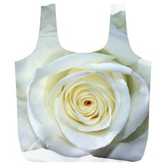 Flower White Rose Lying Full Print Recycle Bags (l)
