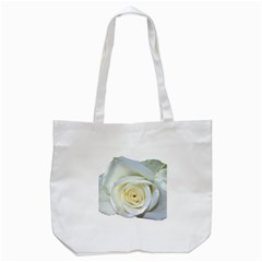 Flower White Rose Lying Tote Bag (White)