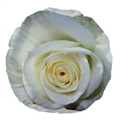 Flower White Rose Lying Large 18  Premium Flano Round Cushions
