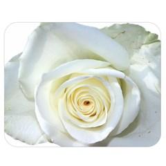 Flower White Rose Lying Double Sided Flano Blanket (Medium)