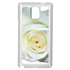 Flower White Rose Lying Samsung Galaxy Note 4 Case (white)