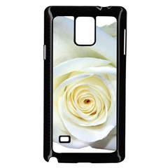 Flower White Rose Lying Samsung Galaxy Note 4 Case (black)