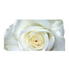 Flower White Rose Lying Satin Wrap