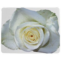 Flower White Rose Lying Jigsaw Puzzle Photo Stand (rectangular)