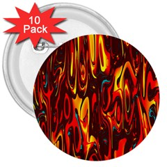 Effect Pattern Brush Red Orange 3  Buttons (10 pack)
