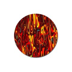 Effect Pattern Brush Red Orange Magnet 3  (Round)