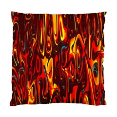 Effect Pattern Brush Red Orange Standard Cushion Case (one Side)