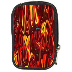 Effect Pattern Brush Red Orange Compact Camera Cases