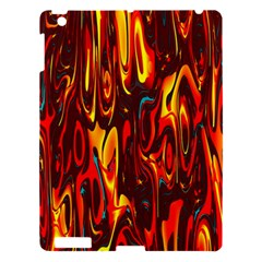 Effect Pattern Brush Red Orange Apple Ipad 3/4 Hardshell Case