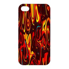 Effect Pattern Brush Red Orange Apple iPhone 4/4S Premium Hardshell Case
