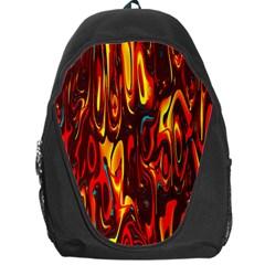 Effect Pattern Brush Red Orange Backpack Bag