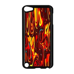 Effect Pattern Brush Red Orange Apple Ipod Touch 5 Case (black)