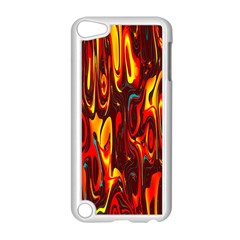 Effect Pattern Brush Red Orange Apple Ipod Touch 5 Case (white)