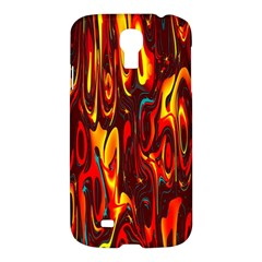 Effect Pattern Brush Red Orange Samsung Galaxy S4 I9500/i9505 Hardshell Case