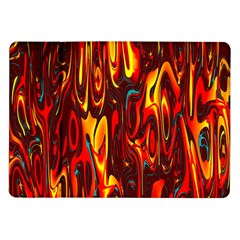 Effect Pattern Brush Red Orange Samsung Galaxy Tab 10 1  P7500 Flip Case