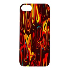Effect Pattern Brush Red Orange Apple iPhone 5S/ SE Hardshell Case