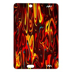 Effect Pattern Brush Red Orange Amazon Kindle Fire Hd (2013) Hardshell Case