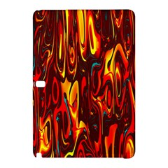 Effect Pattern Brush Red Orange Samsung Galaxy Tab Pro 12 2 Hardshell Case