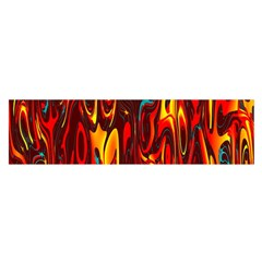Effect Pattern Brush Red Orange Satin Scarf (Oblong)