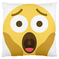 Scream Emoji Standard Flano Cushion Case (one Side)