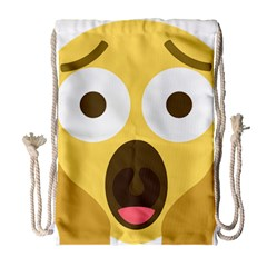 Scream Emoji Drawstring Bag (large)