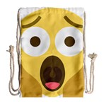 Scream Emoji Drawstring Bag (Large) Back