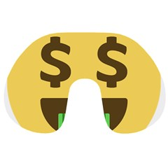 Money Face Emoji Travel Neck Pillows