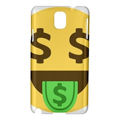Money Face Emoji Samsung Galaxy Note 3 N9005 Hardshell Case