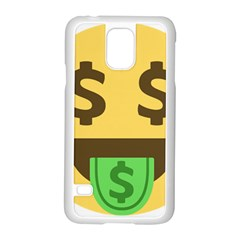 Money Face Emoji Samsung Galaxy S5 Case (white)