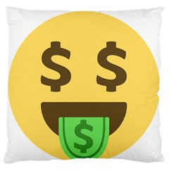 Money Face Emoji Standard Flano Cushion Case (One Side)
