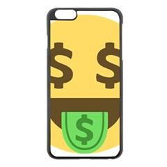 Money Face Emoji Apple Iphone 6 Plus/6s Plus Black Enamel Case
