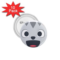 Cat Smile 1 75  Buttons (10 Pack)