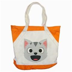 Cat Smile Accent Tote Bag