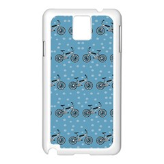 Bicycles Pattern Samsung Galaxy Note 3 N9005 Case (White)