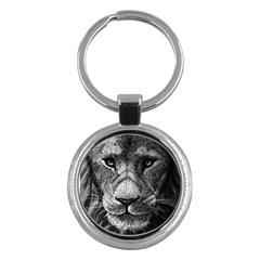 My Lion Sketch Key Chains (round)