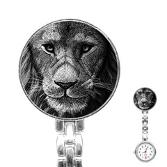 My Lion Sketch Stainless Steel Nurses Watch