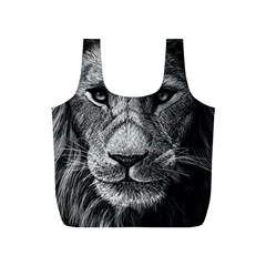 My Lion Sketch Full Print Recycle Bags (S)