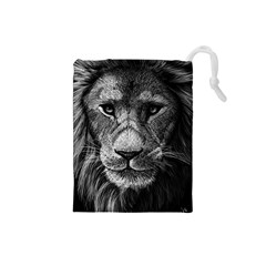 My Lion Sketch Drawstring Pouches (Small)