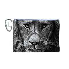 My Lion Sketch Canvas Cosmetic Bag (m)