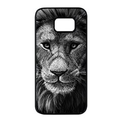 My Lion Sketch Samsung Galaxy S7 Edge Black Seamless Case