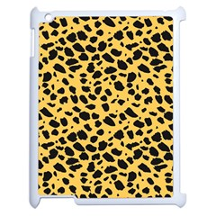 Skin Animals Cheetah Dalmation Black Yellow Apple Ipad 2 Case (white)
