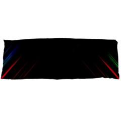 Streaks Line Light Neon Space Rainbow Color Black Body Pillow Case Dakimakura (two Sides)