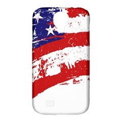 Red White Blue Star Flag Samsung Galaxy S4 Classic Hardshell Case (PC+Silicone)