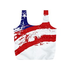 Red White Blue Star Flag Full Print Recycle Bags (S)