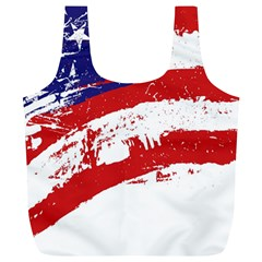 Red White Blue Star Flag Full Print Recycle Bags (L)