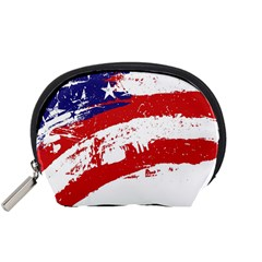 Red White Blue Star Flag Accessory Pouches (Small)